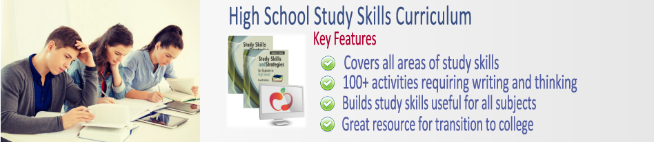 Study Skills Curriculums Illustration for High School