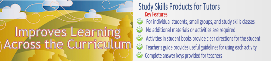 Banner for Study Skills Products for Tutors
