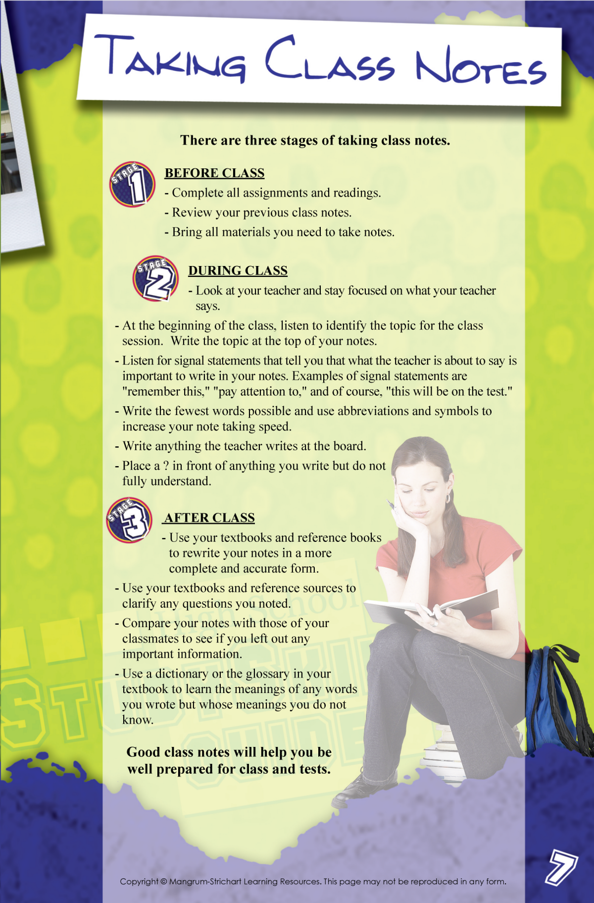 Page 7 of Study Skills Handbook for Students in High School